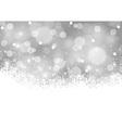 White Xmas Blurry Background vector image