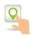gps icon design vector image