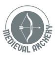 bow arrow logo simple gray style vector image