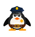 cartoon cop on a white background cartoon style vector image