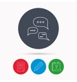 Conversation icon Chat speech bubbles sign vector image