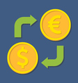 Currency exchange Dollar and Euro vector image