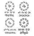 elegant floral decorative elements set vector image