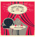 gentlemen club red room with table and vector image