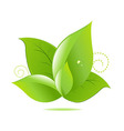 Green Leaves Icon vector image