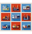 Industrial factory buildings and refineries vector image