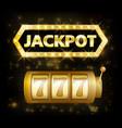 jackpot casino lotto label background sign casino vector image