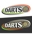logos for darts vector image