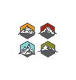 mountain collection vector image