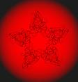 Openwork star vector image