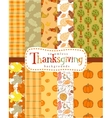 Seamless thanksgiving backgrounds vector image