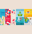 set of flat banner concepts vector image