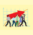 team work people management business concept vector image