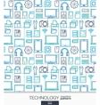 Technology wallpaper Digital seamless pattern vector image
