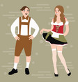traditional folks costumes by country people vector image