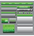 Web Elements Design Gray Green vector image