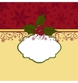 Cute christmas postcard template vector image
