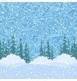 Seamless Christmas Trees and Snow vector image vector image