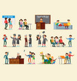 people in university collection vector image