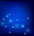 technology web pattern blue background vector image