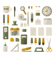 office stationery set vector image