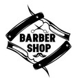 monochrome pattern for barbershop with vector image
