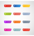 Colorful feedback icons vector image vector image