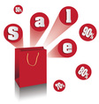 Shopping Bags for Sale 50 70 80 90 percent vector image