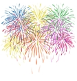 colorful fireworks with stars and sparks on vector image