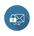 Secure Mail Icon Flat Design vector image