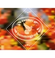 Blurred floral patterned hummingbird vector image