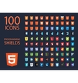 collection of web development shield signs vector image