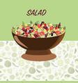 fresh natural healthy food healthy food diet vector image