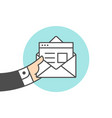 icon of new open mail envelope vector image