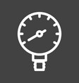 manometer vector image