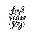 merry christmas typography love peace joy vector image