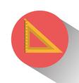 School ruler graphic vector image