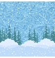 Seamless Christmas Trees and Snow vector image