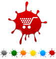 Shopping blot vector image