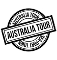 Australia Tour rubber stamp vector image vector image