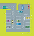 parking scheme with car and arrow vector image vector image