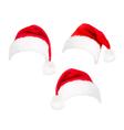 red santa hats vector image vector image