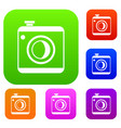 vintage photo camera set collection vector image vector image