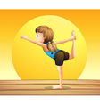 A young woman doing yoga vector image