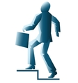 simplified businessman with briefcase vector image