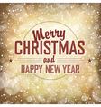 christmas golden card vector image vector image