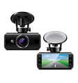 car DVR isolated vector image vector image
