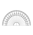 protractor vector image