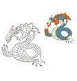 dragon sketch vector image vector image