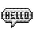 icon bit hello vector image